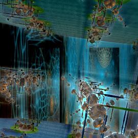 Troubled Voyage by Rick Eskridge - Illustration Sci Fi & Fantasy ( fantasy, jwildfire, mb3d, fractal, twisted brush )