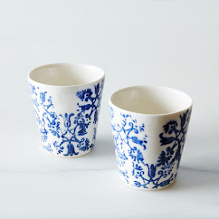 Floral Espresso Cups (Set of 2)