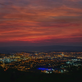 City at night by Mariusz Murawski - Landscapes Sunsets & Sunrises ( #landscape, #light, #city, #night, #sky,  )