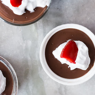 Quick 15 Minute Microwave Chocolate Pudding.
