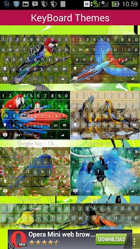 Bird keyboard theme