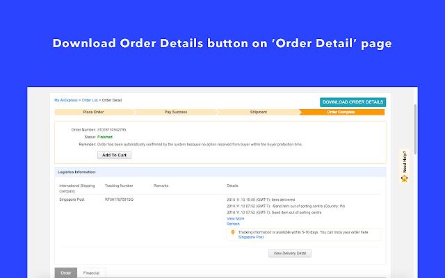 Alibilling Order Details Downloader