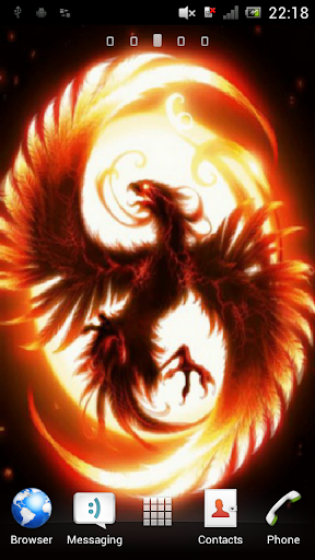 Fiery bird Live Wallpaper