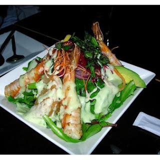 Grilled Prawn Salad.