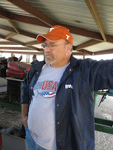 Photo: Rick Pike, knowing he cannot fix his loco here and the steaming is over.  HALS 2009-0228