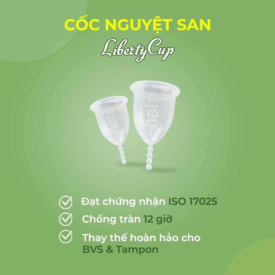 Cuống cốc Liberty Cup dài 4 nấc có thể điều chỉnh dễ dàng cho phù hợp với chiều dài âm đạo và cơ địa của người sử dụng