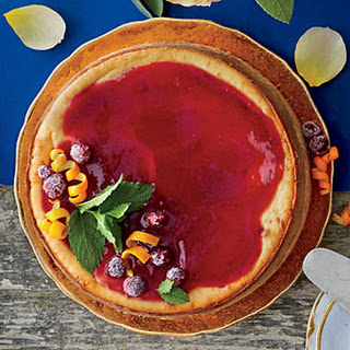 Cranberry Cheesecake with Cranberry-Orange Sauce