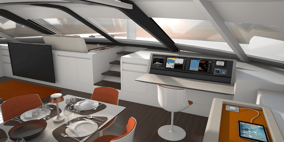 Liberty 82 interior design, nav station 01