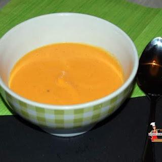 Vanilla Infused Creamy Butternut Squash Soup.