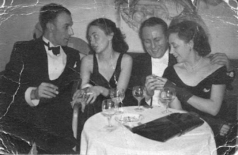 Photo: Arthur Menko and girlfriend, Johan H.J. Groeneweg, Bea Groeneweg-de Jong 1951