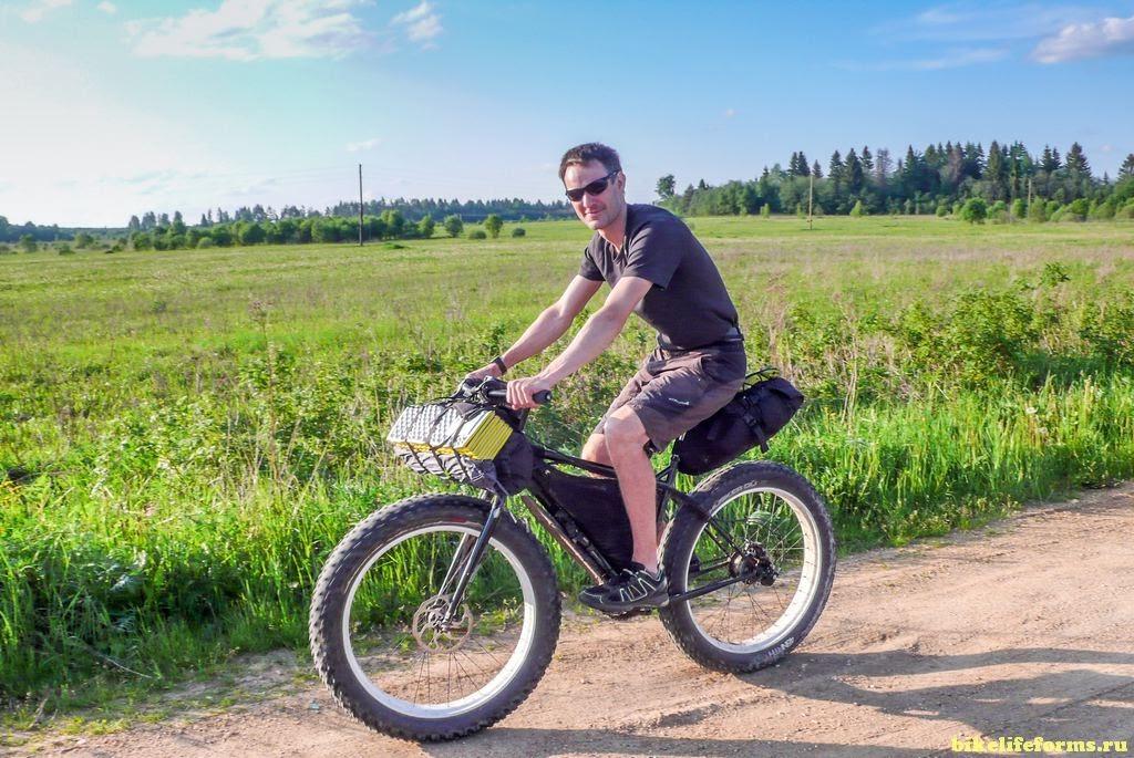 фэт байк в велопоходе по грунтам