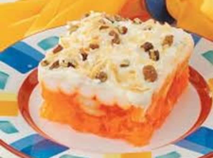 Mandarin Orange Jello Cake Recipe: Orange Jello Delight Recipe