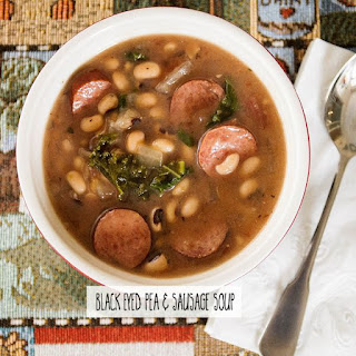 Black Eyed Pea & Sausage Soup.