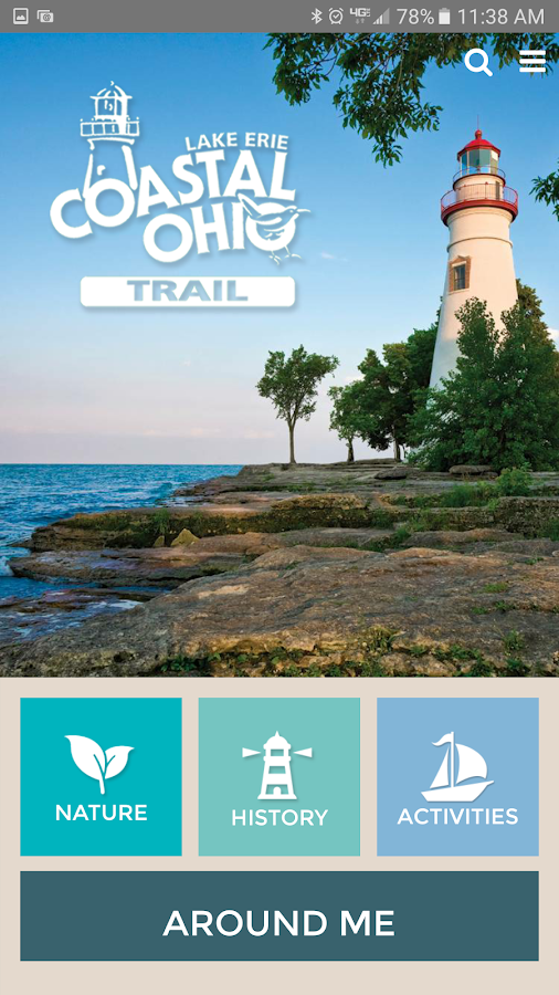 Lake Erie Coastal Ohio Trail- screenshot
