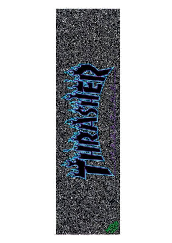 9in x 33in Thrasher Blue Flame Logo Sheet Mob Skateboard Grip Tape