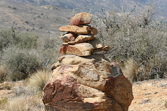 Photo: strange rock cairn in the wilderness