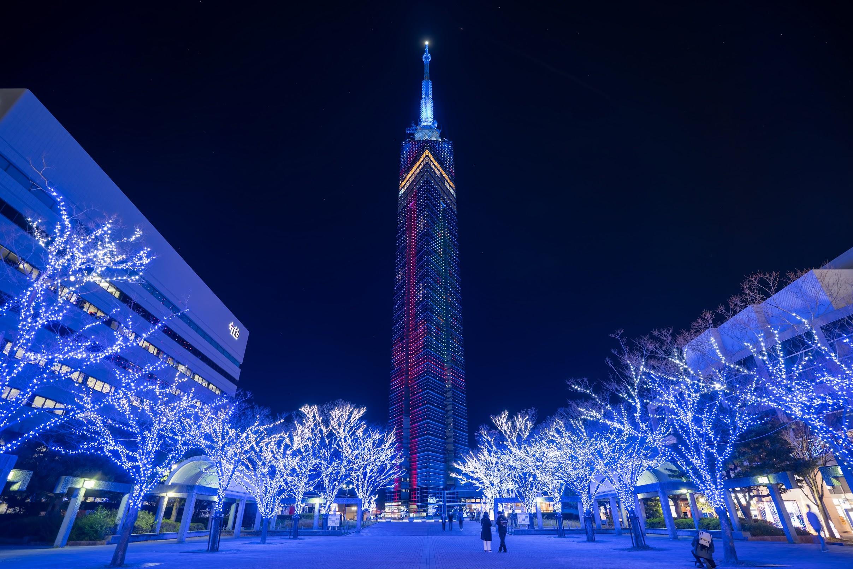 Fukuoka Tower night view2