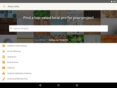 HomeAdvisor Home Contractors- screenshot thumbnail