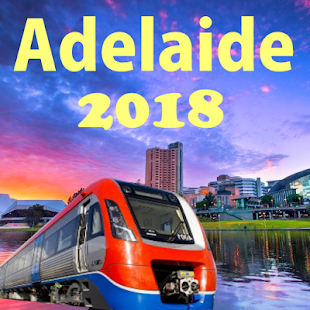 Adelaide Metro Train Tram Map 2018 - náhled