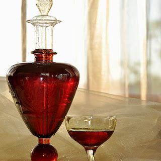 Home-made Sour Cherries Liqueur.