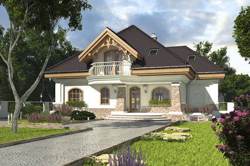 projekt Dzierlatka IV bez garażu B