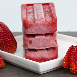Strawberry Paletas.