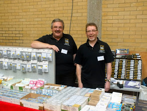 Photo: 004 Spotlight on the traders 2: Parkside Dundas happily travel from Kirkcaldy in Fife to NG shows large and small throughout the country. Ian (on the left) and Andrew Hastie are very familiar sights to modellers and their support to the hobby is very much appreciated .