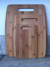 Photo: Bamboo Chopping Boards. Don't buy these. Mine started flaking off bamboo splinters the day I started using it.