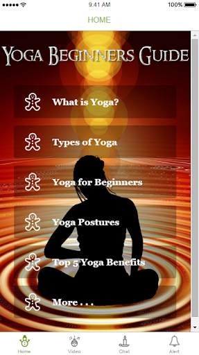Yoga for beginners with poses