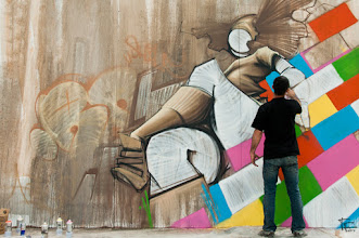 Photo: Another streetart to begin sunday with colours. Hope you a nice Easter, be careful with chocolate :-)  #streetartsunday (+Luís Pedro, +Peter Tsai, +Mark Seymour)