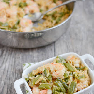 One Pot Shrimp and Orzo.