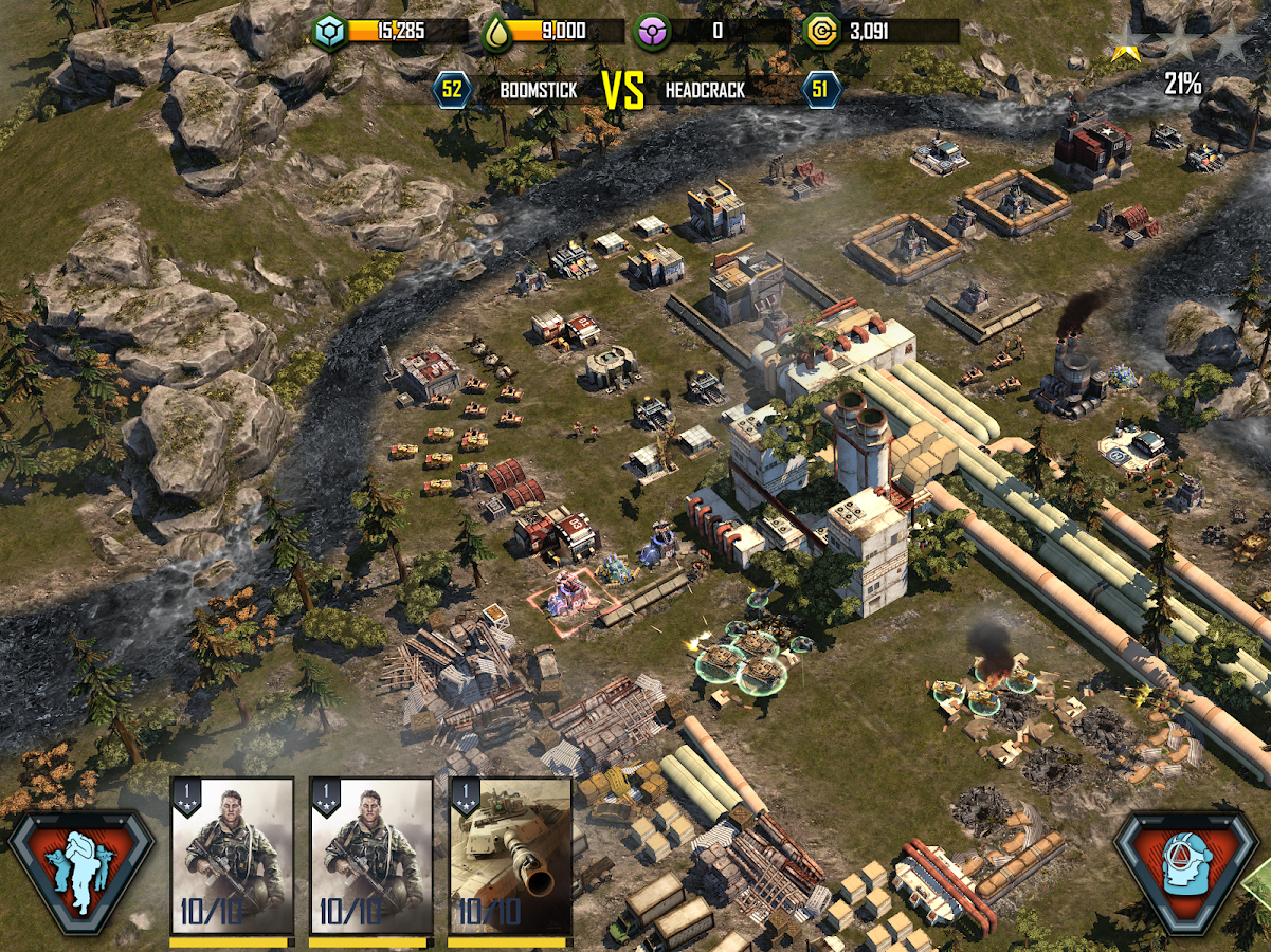 how to play war commander on iphone