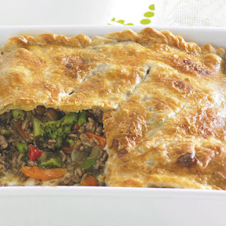 Beef and Vegetable Pot Pie.
