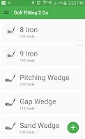 Screenshot of Golf Fitting 2 Go