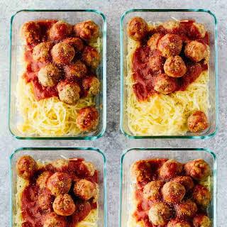 Paleo Turkey Meatballs Meal Prep Bowls.
