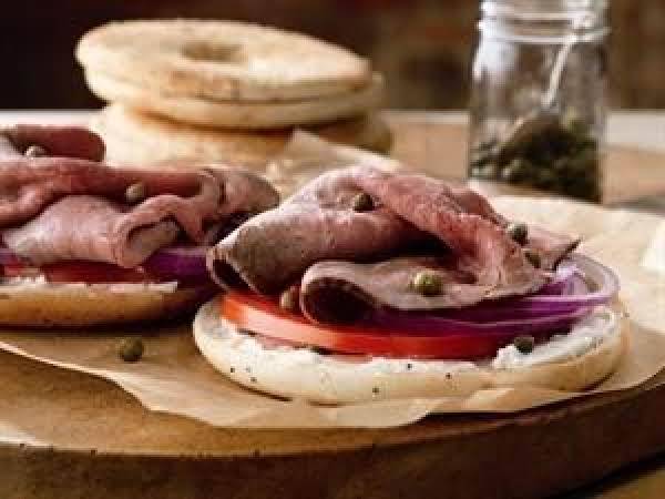 Beef And Cream Cheese Bagelwich Recipe