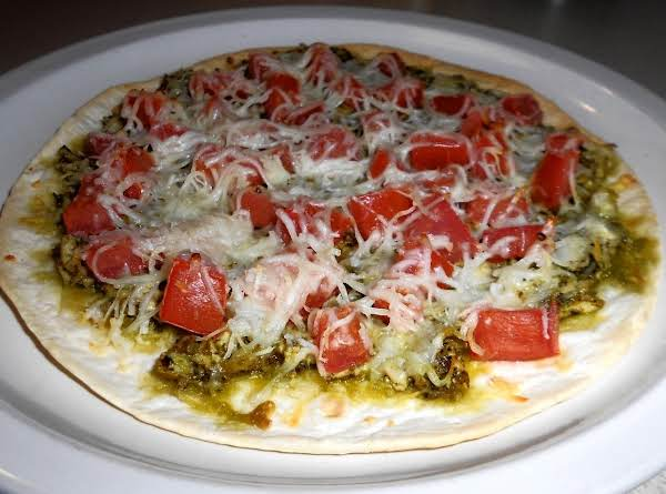 Pesto Chicken Pizza (low Carb) Recipe