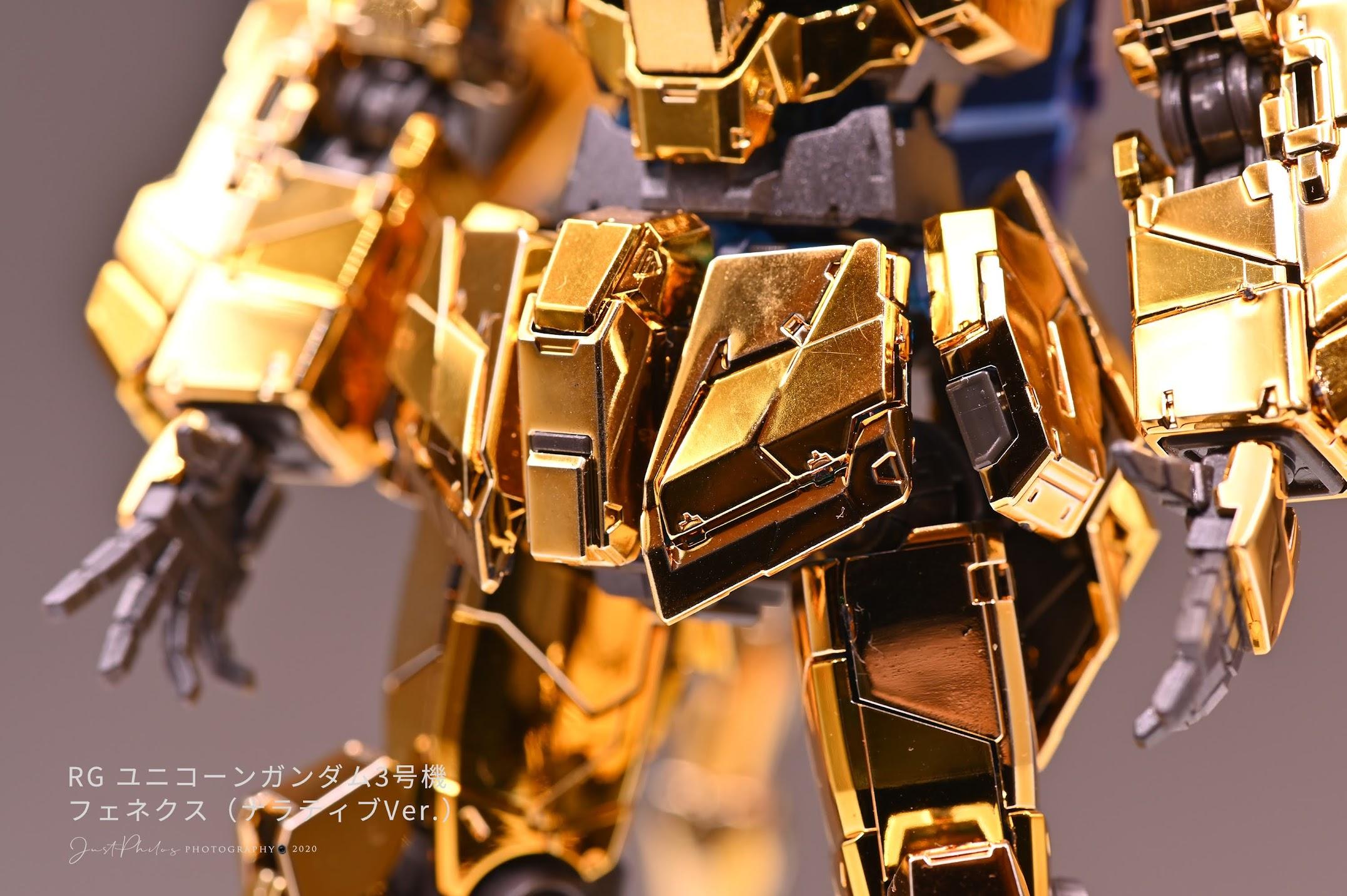 腰部的外裝甲就可很明顯看出有兩種電鍍金色(不知道你有沒有看出來?)