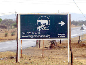 Photo: Road to Mkhaya Game Reserve