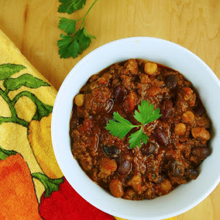Slow Cooker Four Bean Chili (Gluten-free)