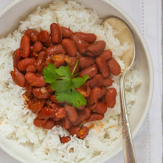 Puerto Rican Red Beans and Rice.