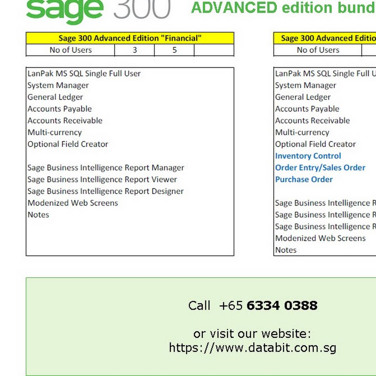 Databit Pte Ltd - Sage 300 Authorized Partner