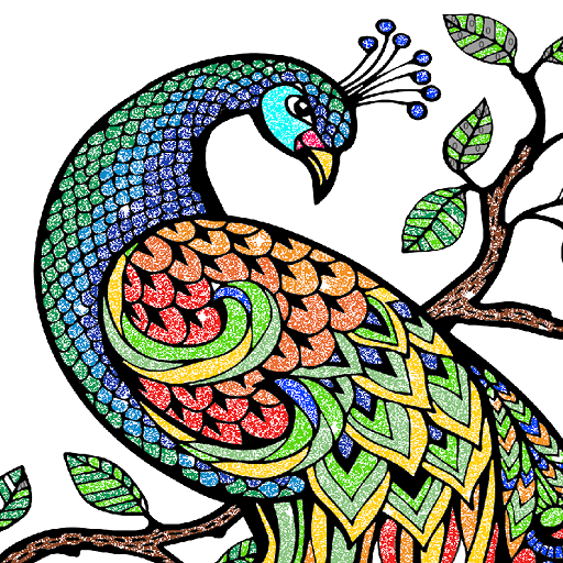 Animals Glitter Color by Number - Paint by Numbers Icon