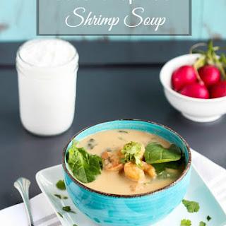 Coconut Spinach Shrimp Soup