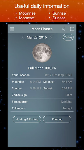 Moon Phase Calendar Zodiac