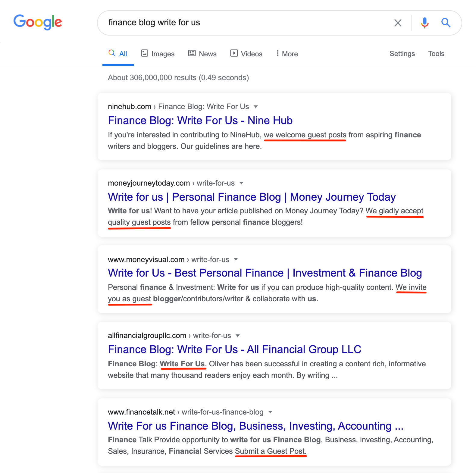 Search for Guest Posting Opportunities