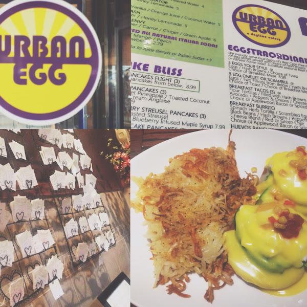 Oh my word! Gluten Free Eggs Benedict Ya'll! 🙌🏼🙌🏼🙌🏼🙌🏼🙌🏼 LOVE LOVE The Urban Egg! The atmos