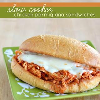 Slow Cooker Chicken Parmigiana Sandwiches