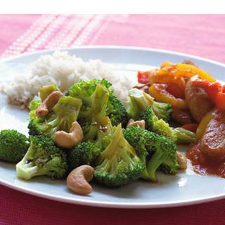 Broccoli Uit De Wok Met Schnitzelreepjes En Rijst