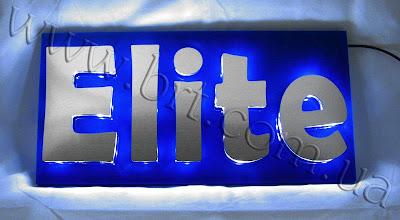 Photo: Вывеска с объемными накладными буквами. Светодиодная подсветка